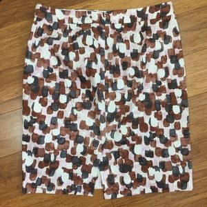 J. Crew Stretch Multicolor Skirt Size 10